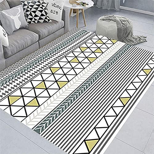 Teppich Wetterfest Sofa Teppiche EIN geometrischer gemusterter Teppich aus einfachen Linien ist leicht zu pflegen Teppich Flach Gewebt 200x300cm