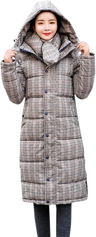 Casual Limsea Women Outerwear Plaid Hooded CottonPadded Zipper Pocket