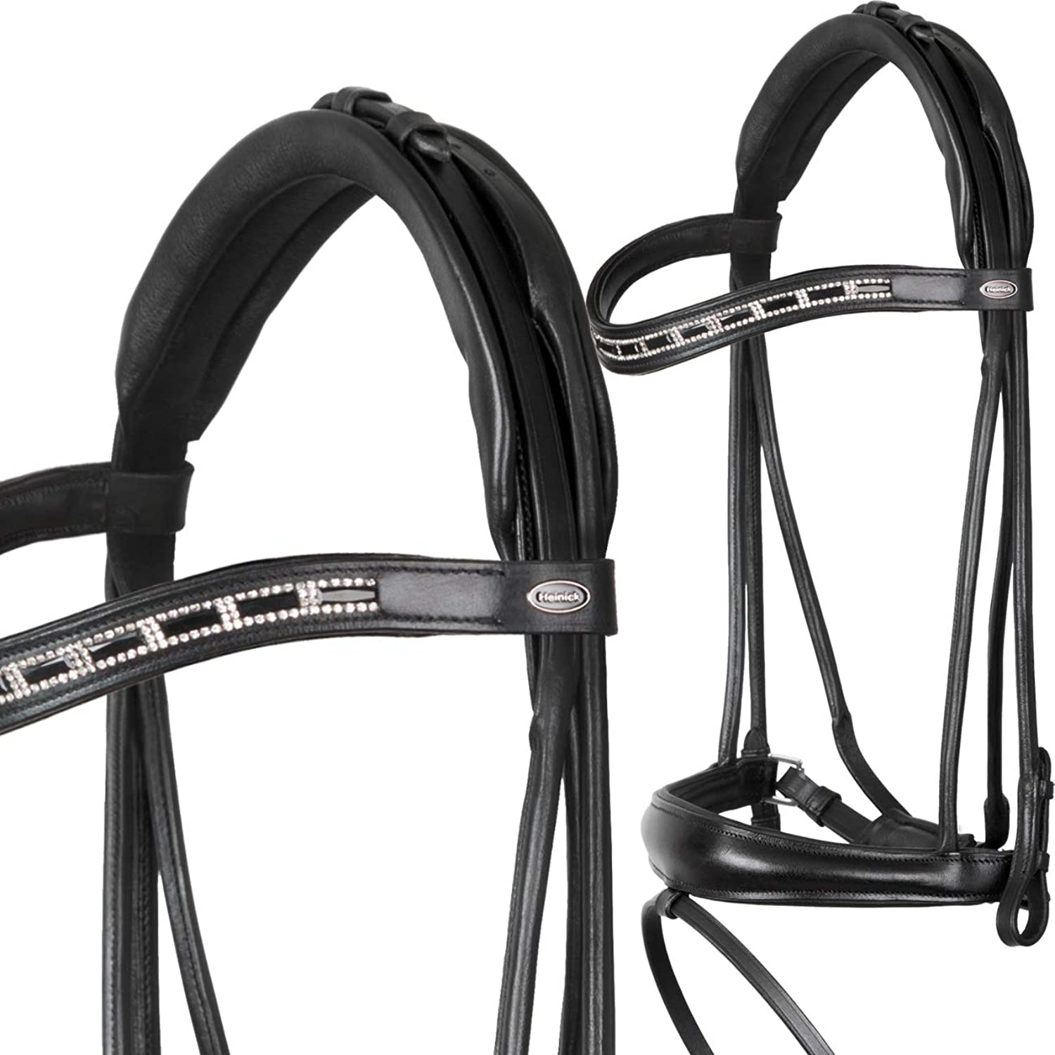 Heinick  Stitched Edging Panja  Equestrian Fine Proline Snaffle Bridle Swedish RH Warmblood Horses