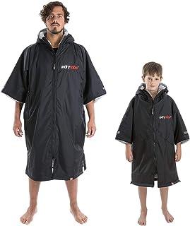 Dryrobe Advance SHORT SLEEVE Change Robe - Stay Warm and Dry - Windproof Waterproof Oversized Poncho Coat - Swimming/Surfi...