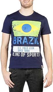 U.S.POLO ASSN. Maglietta da uomo in cotone con stampa Brasil