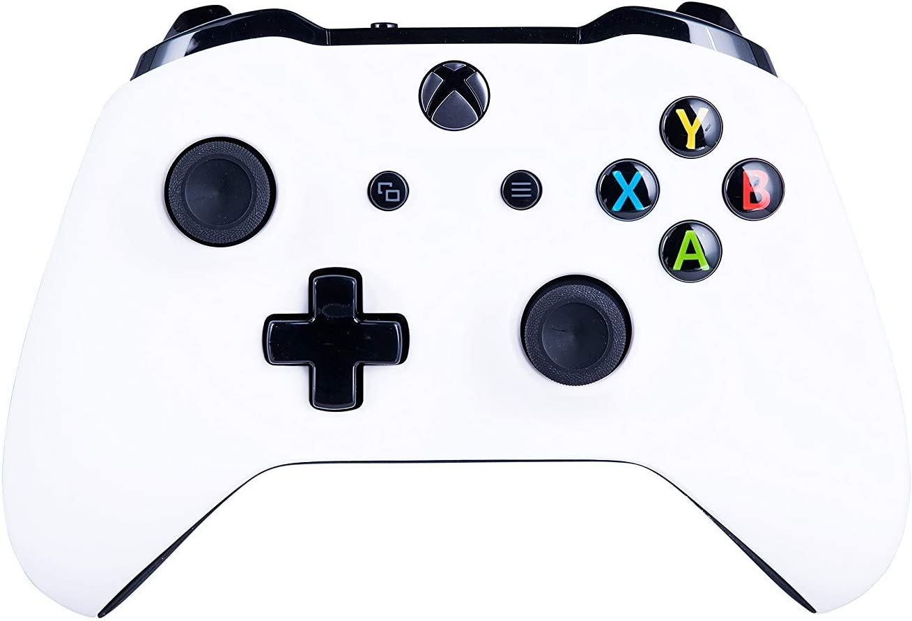Xbox One S Customized Wireless Controller for Microsoft Xbox One - Soft Touch Alpine White X1 - Compatible with Xbox Series X|S - Added Grip for Long Gaming Sessions