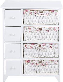 Lyrlody - Cómoda Elegance con 8 cajones mueble de baño color blanco cajonera para dormitorio cajonera de baño mueble ...