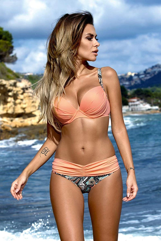 ZHRUI New Split Bikini Badeanzug DREI Punkt heißer heißer heißer Frühling Badeanzug, L, Beige (Farbe   -, Größe   -) B07MF8RLNY  Sofortige Lieferung 0513e4