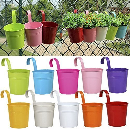 10 x Metal Iron Flower Pot Vase ...