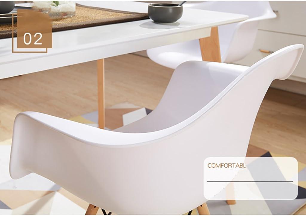 HURONG168 Chaises de cuisine Dossier chaise maison ordinateur chaise minimaliste moderne chaise bureau tabouret adulte chaise nordique siège lounge (Couleur : K) A