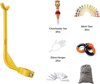 POSMA TAS013 Posture Corrector Bundle Set with 1pc Elbow Brace Posture Corrector+3pcs Weight Power Swing Ring+10pcs Lead Tapes+2pcs Glove Hanger+3pcs Cheerleader Tee+3pcs Bikini Tees+Flannel Gift Bag