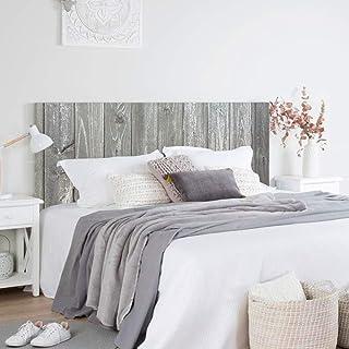 setecientosgramos Cabecero Cama PVC | WoodGrey | Varias Medidas | Fácil colocación | Decoración Dormitorio (150x60cm)