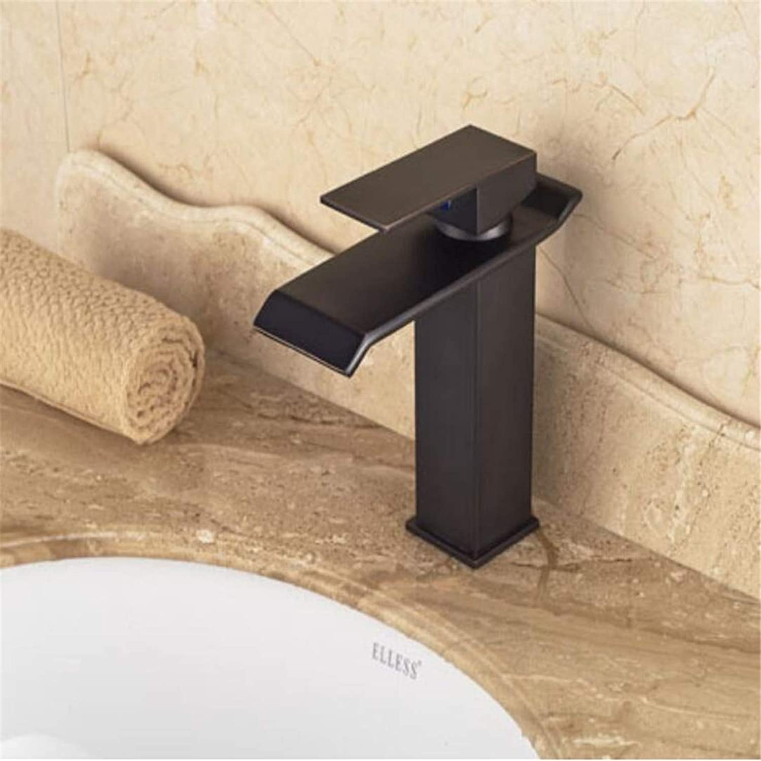 Faucet Washbasin Mixernew Traditional Style Oil Rubbed Bronze Waterfall Bathroom Basin Faucet Single Handle Mixer Tap