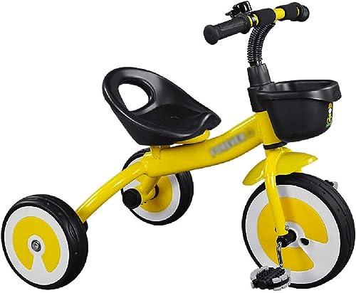 Jiamuxiangsi     Vélo Vélo Enfant Tricycle Infant 1-2-3 Ans Bébé Vélo Enfant Jouet De Voiture Poussette Vélo Vélo bébé (Couleur   jaune)