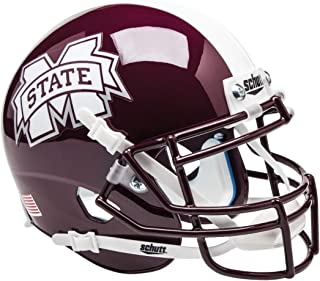 MISSISSIPPI STATE BULLDOGS NCAA AUTHENTIC MINI 1/4 SIZE HELMET