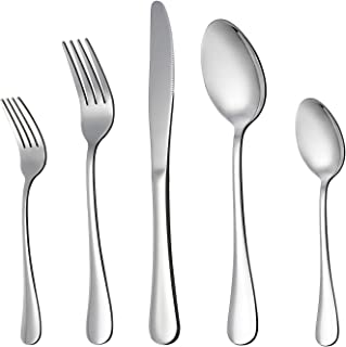 LIANYU 20-Piece Silverware Flatware Cutlery Set, Stainless Steel Utensils Service for 4,..