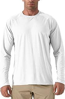 FASKUNOIE Men's UPF 50+ Long Sleeve T-Shirts Sun Protection Outdoor Fishing Hiking T-Shirts