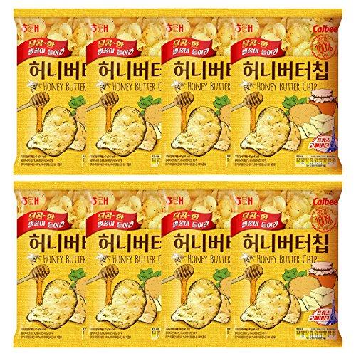 Haitai Honey Butter Chips Sweet Fried Potato Snacks Crisps, 2.1oz, Pack of 8