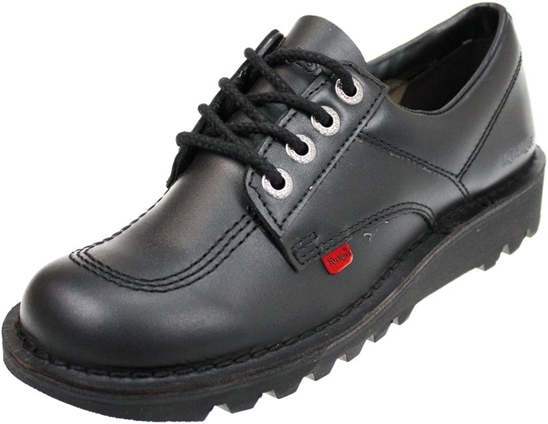 Mens Kickers Kick Lo Black Leather Lace Up Smart shoes SIZE 10