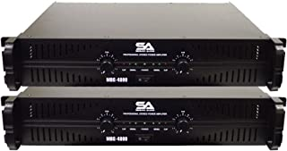 Seismic Audio - MBG-4000Pair - Pair of Power Amplifiers - 2 x 500 Watts at 8 Ohms - 2 x 1000 Watts at 4 ohms - Amp