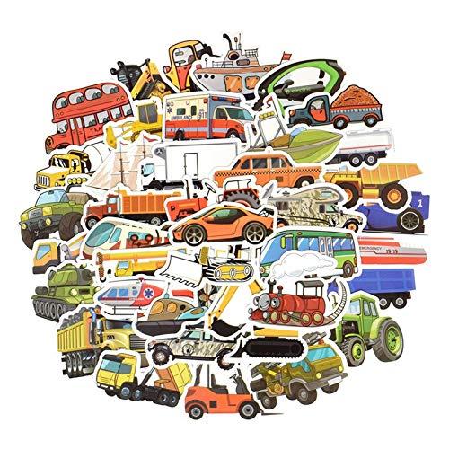 ZXYBMSHOP YYXH-BM 50 PCS Cartoon Stickers Boy Car Boat Airplane Toy Cartoon Sticker DIY Toy House Learning Transportation Exquisite Workmanship
