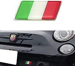 iJDMTOY Italian Flag Emblem Badge with L Shaped Mounting Bracket Fit Car Front Grille For Fiat Alfa Romeo Ferrari Maserati Lamborghini, etc