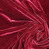 Fabulous Fabrics Samt Bordeauxrot, Uni, 147cm breit –