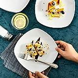 MALACASA, Serie Elisa, 12 TLG. Set 7,5″ Porzellan Dessertteller Kuchenteller Teller Set 19x19x2cm für 12 Personen - 2