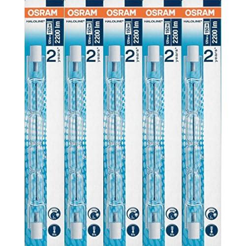 5x Osram lampada alogena Haloline Pro, 118mm, R7s, 230V, 120W, 64696
