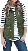 AFKOXKi Women Sleeveless Lightweight Vest Jacket Utility Vest Military Jacket Vest with Pockets