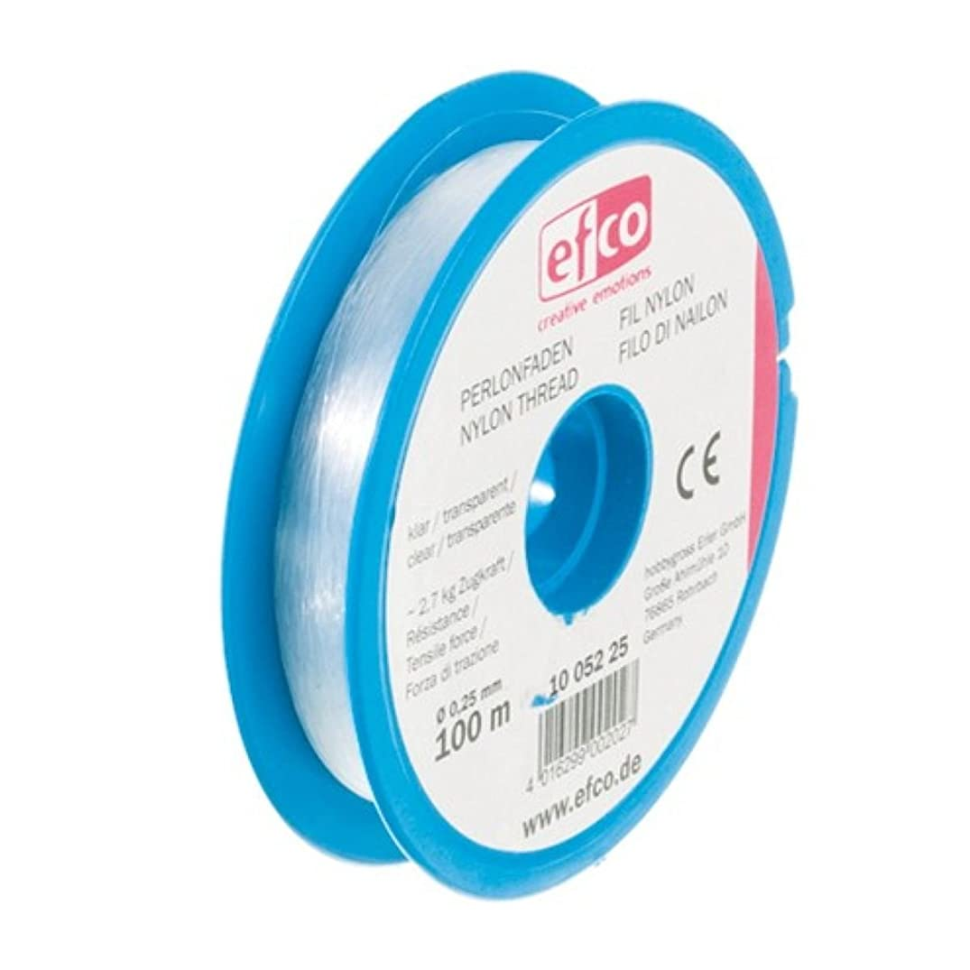 Efco Tensile Force Thread, Polyamide, Clear, 2.7 kg, 0.25 mm Diameter, 100 m