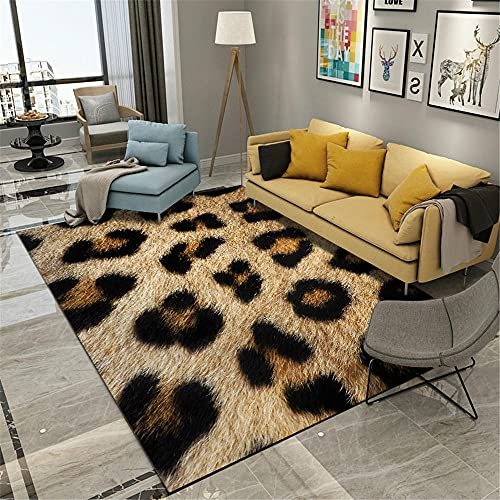 AU-OZNER rugs for living room sale,Black carpet, deer pattern is easy to clean and easy to clean water to wash the carpet,area rugs for living room -black_50x80cm