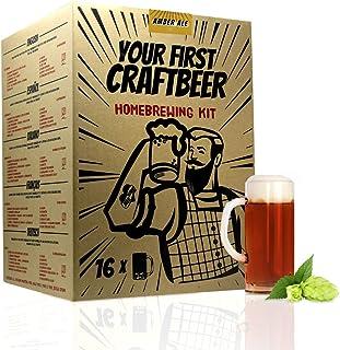 | Kit de extracto para hacer cerveza Amber Ale | Tu primera cerveza casera | 8 litros | Incluye densímetro | Elabora cerveza artesanal