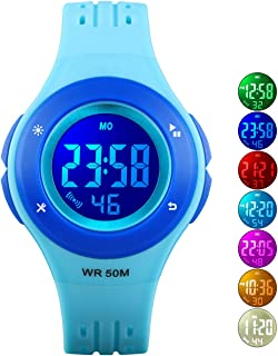 Kids Watch Boys Sports Waterproof Led Digital Watches with Alarm Wrist Watches for Boy Girls Children