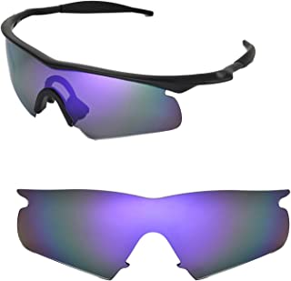 Walleva Replacement Lenses or Lenses with Black Nosepad for Oakley M Frame Hybrid - 40 Options Available