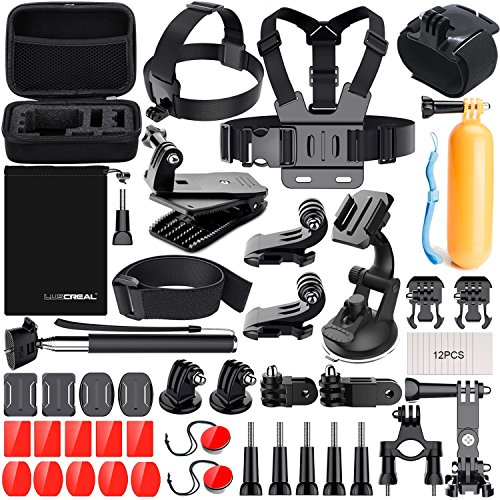 Kit Accessori Action Cam, Accessori per Gopro per Go Pro Hero 7 Hero 2018 Hero 6 5 4 3 2 1 Hero Session 5 Black AKASO EK7000 Apeman Dpower Xiaomi di LUSCREAL.