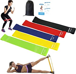 Resistance Bands Pull Up Assist Bands, Set of 5 Skin-Friendly Powerlifting Mobility Band with 5 Different Resistance Level...