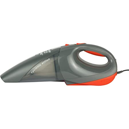 BLACK+DECKER ACV1205 12V DC Cyclonic Powerful Auto Dustbuster Car Vacuum Cleaner with 6 accessories (Gray)