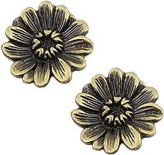 2 stks Antieke Creatieve Chrysanthemum Kastknop, Trekhendel Metalen Kast Lade Deurknop voor Thuis Keuken Badkamer Kantoor,...