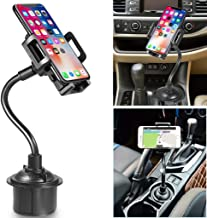 Cup Phone Holder for Car, Universal Adjustable Portable Cup Holder Car Phone Mount for iPhone Xs MAX/XR/XS/X/8/8 Plus, Galaxy S10/S9/S9 Plus/Note 9, Google Pixel and More(Black)