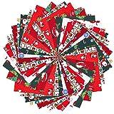Weihnachtliches Baumwollstoffpaket Nähen quadratisch