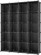KOUSI Portable Storage Shelf HHSG (Black (No Door), 20 Cubes)