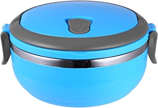 Single Layer Stainless Steel Vacuum Lunch Box Bento 0.7L Blue