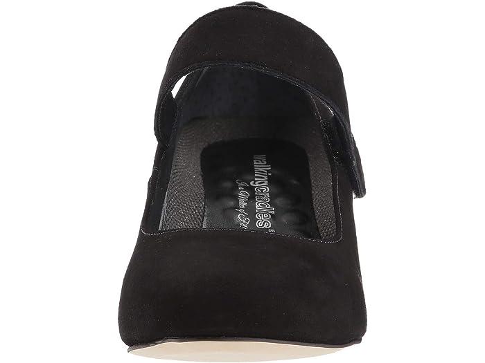 Walking Cradles Womens Jackie-2 Black Tumbled Patent 7.5 D US