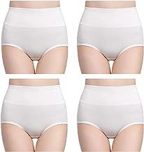 wirarpa Women's Soft Cotton Briefs Underwear Breathable High Waist Full Coverage Ladies Panties Multipack