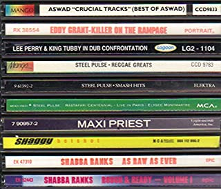 """10 Classic Reggae CD Collection featuring Lee Perry, Steel Pulse, Aswad, Maxi Priest, Lee """"Scratch"""" Perry, Steel Pulse, Shaggy & Shabba Ranks."""