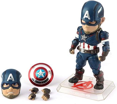 DS- La Statue Figurine Captain America - Série Marvel Titan Hero Figurine Captain America - Plusieurs articulations sont Mobiles &&