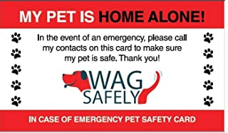 WagSafely Pet Home Alone Emergency Wallet Cards