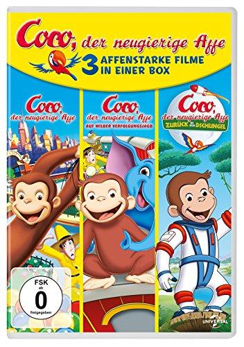 Coco, der neugierige Affe – 3 affenstarke Filme in einer Box [3 DVDs]