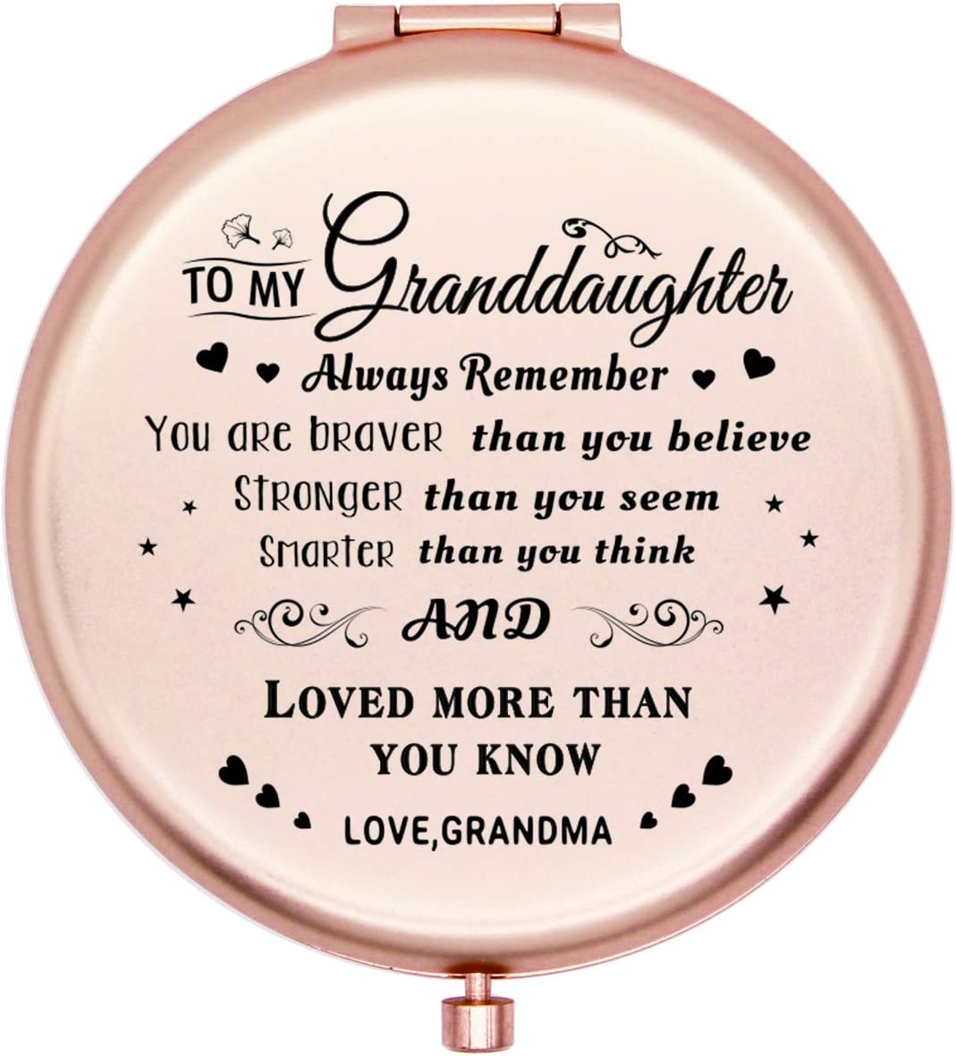 Onederful Courier Phoenix Mall shipping free Granddaughter Gifts Travel Compact Pocket Mirror G for