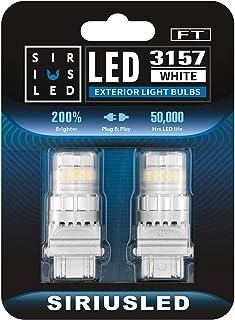 SIRIUSLED - FT- 3157 3156 4157 LED Backup Reverse Light Bulb Super Bright High Power Dual Filament function Air Vent Desig...