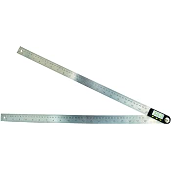 360 Degree 600mm 60cm 23 5//8 in Digital Angle Ruler Angle Gauge Finder Meter Protractor Measure metric and imperial scale for automobile tools woodworking and machining TekcoPlus Ltd AFTK-40 constructions boating