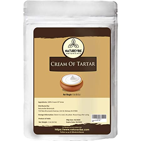 Naturevibe Botanicals Cream Of Tartar, (1lbs)   Non-GMO, Gluten Free and Food Grade   Baking Agent and Household Cleaner