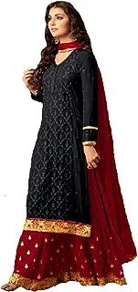 Delisa Indian/Pakistani Ethnic wear Georgette Plaazosharara for Womens sharara Dress Indian Women